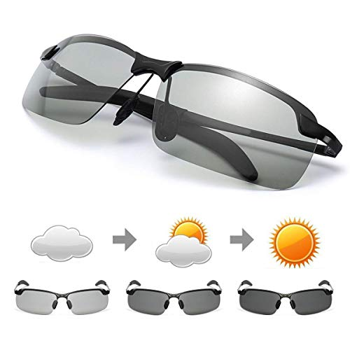 GGBuy Driving Glasses Day and Night 2 in 1 Polarized Sport Sunglasses HD Vision Anti-Glare UV Protection for Outdoor Cycling Driving Fishing]()