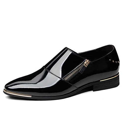 Herrenschuhe Fashion Echtes Leder Herren Business Dress Lederschuhe Wies Black