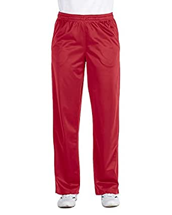 Harriton Ladies Tricot Track Pants - RED - XL