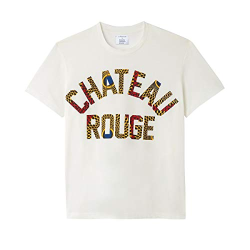 La Redoute Maison Chateau Rouge Womens Crew Neck Short-Sleeved T-Shirt White Size US 8/10