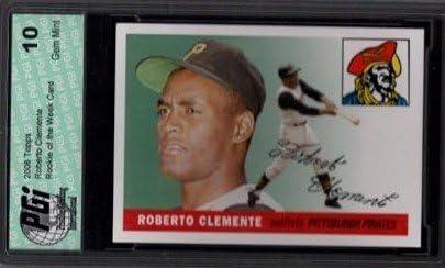 ROBERTO CLEMENTE Topps Rookie of the Week Card PGI 10