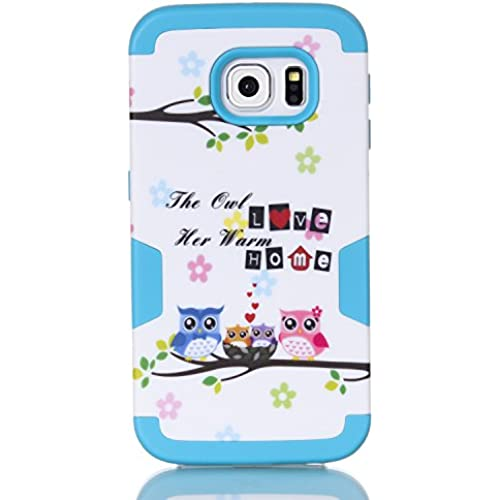 S7 Edge Case,Galaxy S7 Edge Owl Case, SAVYOU S7 Edge LOVE HOME Owl 3in1 Shield Hybrid Series Hard Case Cover with Soft Silicone Inner Case for Samsung Sales