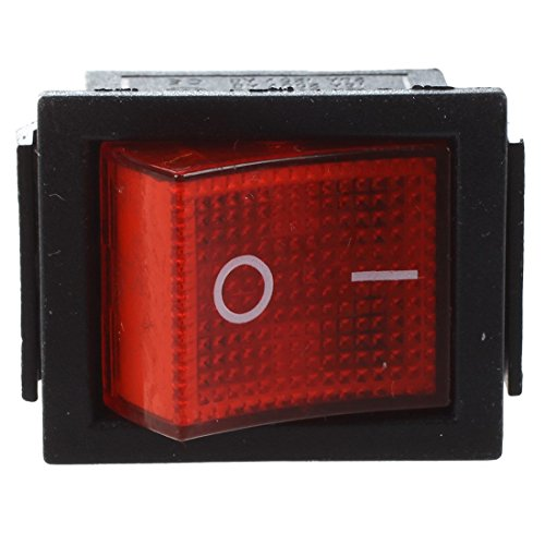 TOOGOO(R) 16A/250V 20A/125V AC Red Neon Light ON/OFF DPST Boat Rocker Switch 5 Pcs by TOOGOO(R) (Image #2)