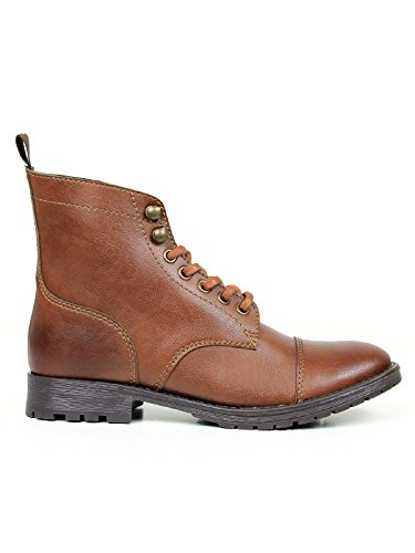 Will's Vegan Shoes Women's Work Boots Chestnut Browns