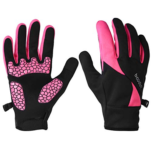 Water Repellent Touchscreen Gloves Fleece Winter Running Cycling Driving Women