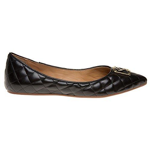 Loves Moschino Gewatteerde Ballet Vrouwen Schoenen Zwart Zwart