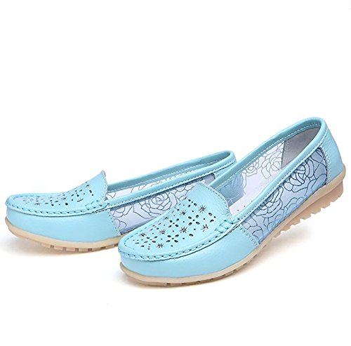 Girl's Simple Shoes Sandals Leather Soft UK4 CN36 US6 C Bottom Flats EU36 Shoes Shoes Casual Driving Flats A Women's zxv1F1