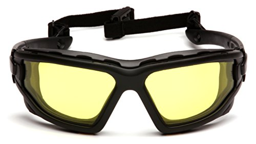 Pyramex I-Force Slim Safety Goggle, Black Frame/Amber Anti-Fog Lens by Pyramex (Image #2)