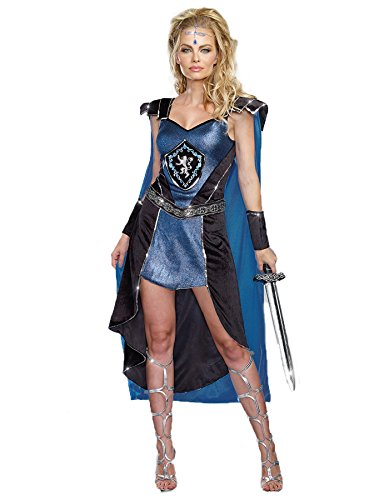 Women Roman Warrior Costume Middle Ages Sexy King Slayer Fancy (King Slayer Costumes For Women)