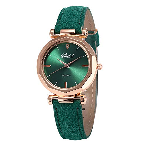SMALLE ◕‿◕ 2019 Women Watch,Simple Leather Casual Watch Luxury Crystal Wrist Watch-Fashion Lady Essentials Green from SMALLE ◕‿◕