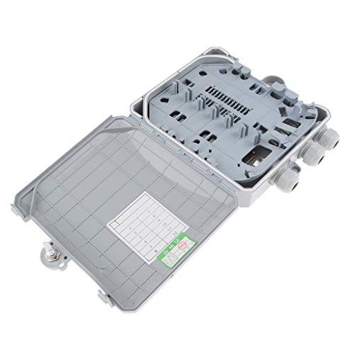 Baosity FTTH Fiber Optic Termination Box, 12 Cores Outdoor/Indoor Fiber Optical Splitter Distribution Box, High Strength Plastic, Durable