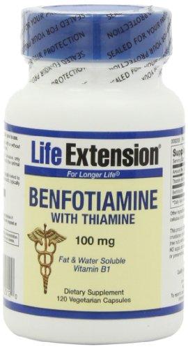 Продления жизни Бенфотиамин с тиамина Capsule, 120-Граф
