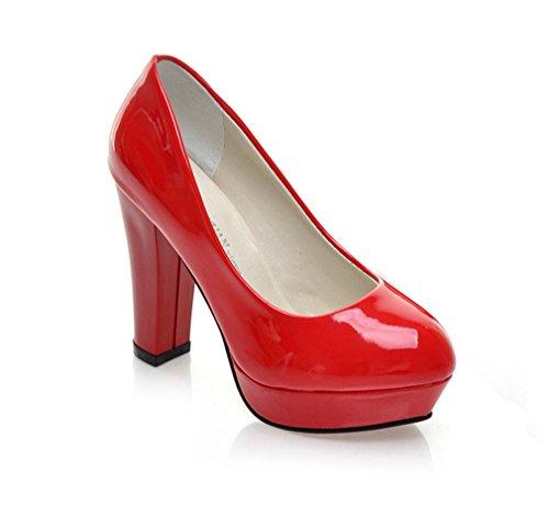 Gaorui Mujeres Plataforma De La Boda De Tacón Alto Impermeable Zapato Sexy Lady Nightclub Fiesta Bomba Rojo