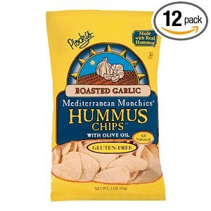 - Plocky's Hummus Chips, Roasted Garlic, 3-Ounce Bags (Pack of 12)