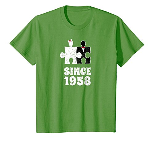 niversary T-Shirt Funny For Married In 1958 I 4 Grass (1958 4 Piece)