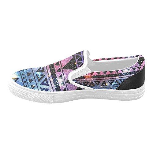 Sneaker Di Moda Da Donna Di Tela Slip-on Di D-story Aztec Tribale