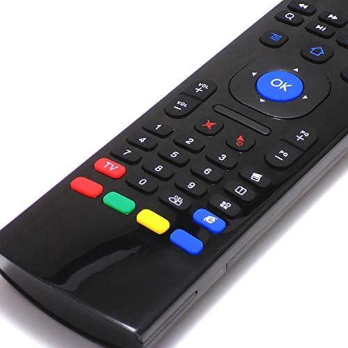 MX3 Air Mouse, Control Remoto Inteligente por Infrarrojos, Teclado inalámbrico de 2.4GHz, Adecuado para Android TV Box/PC/TV