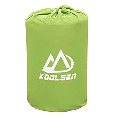 Koolsen Self-inflating sleeping pad for camping backpacking fishing and climbing,Lightweight Camping pad with pillow
