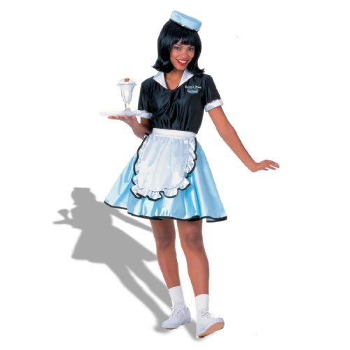 Adult Car Hop Girl 50s Costume, One -