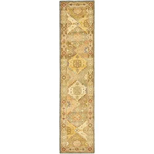 Safavieh Antiquities Collection AT316A Handmade Traditional Oriental Multi and Beige Wool Runner (2'3