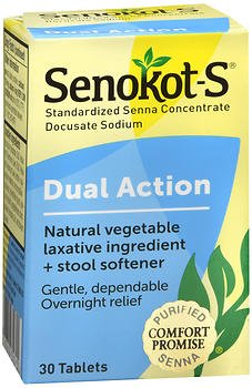 Price comparison product image Senokot-S Tablets 30 Tablets (Pack of 5)