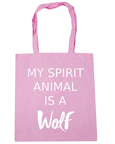 x38cm 10 My Beach Gym Classic 42cm Pink Wolf is HippoWarehouse a litres Spirit Bag Animal Shopping Tote 7qOxRgwd