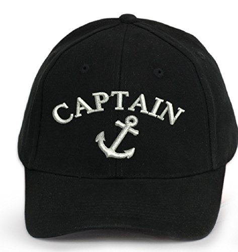 4sold 100% algodón Ancient Mariner, Capitán Cabin Boy tripulación First Mate Yachting Gorra de béisbol inscripción letras negro blanco Anchor Captain