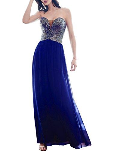 Beauté Paillettes Chérie De Mariée Bal Robes De Soirée Robe De Soirée Longue Pour Les Femmes L099 Bleu Royal