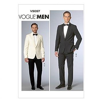 Vogue Homme 9097 Patron de Couture Veste et Pantalon pour Homme Suit ... 8cd8ae9f3ec