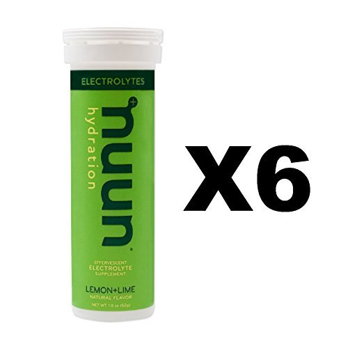 Nuun Active: Lemon+Lime Electrolyte Enhanced Drink Tablets(6-Pack of 10 Tablets)