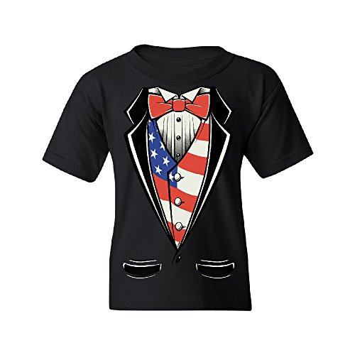 American President Tuxedo American Patriotic YOUTH T-shirt USA Independence 4th of July Large