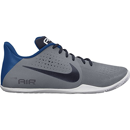 Nike Mens Air Behold Low Basketball Shoe Cool Grey/Obsidian/White/Gym Blue Size 9 M US