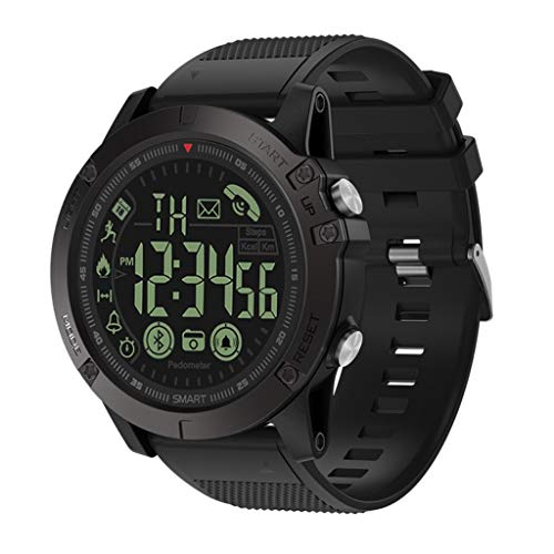 - Sport Smart Watch 2019 Latest - T1 Rugged Grade Super Tough IP68 Waterproof Smart Watch 30-Month Standby (Black)