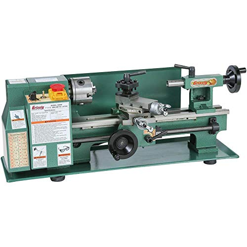 "Grizzly Industrial G8688-7"" x 12"" Mini Metal Lathe"