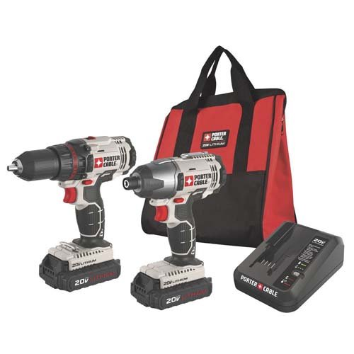 Porter-Cable-PCCK604L2R-20V-Cordless-Lithium-Ion-Drill-And-Impact-Driver-Kit-Certified-Refurbished
