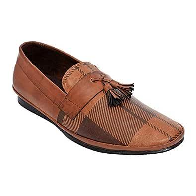 DesiJutta Brown Slip On Shoes For Men, 9 UK
