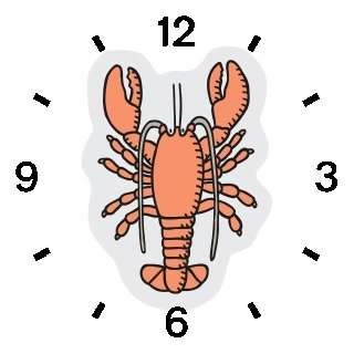 Lobster No.1 Animal - WATCHBUDDY® DELUXE TWO-TONE THEME WATCH - Arabic Numbers - Brown Leather Strap-Size-Women's Size-Small
