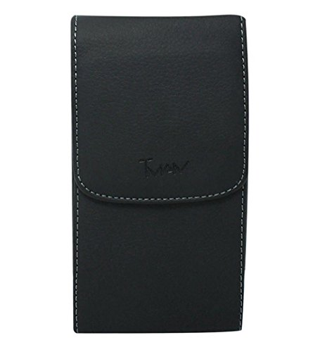 Black Vertical Stylish Leather Cover Belt Clip Side Holster Case Pouch For Sprint BlackBerry Curve 3G 9330 (Bb8300 Curve)