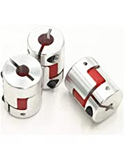 3Pcs 8x10mm Jaw Spider Plum Coupling Jaw Shaft Flexible Coupler CNC Stepper Motor 8mm To 10mm D25L30 Connector Motor Clamp Aluminum Alloy for CNC Router Engraving Machine/Milling Machine/3D Printer (8x10mm-25x30mm)