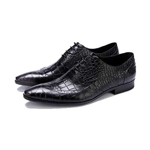 Black da Pelle Sposa Assorbimento Europee Basse Stringate Deodoranti Resistenti Atmosfera all'Usura Uomo Scarpe in Scarpe Scarpe degli Scarpe da Urti Scarpe qd4RwCx
