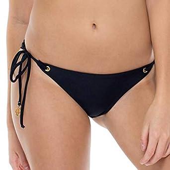 b5912520c5daa Amazon.com  Luli Fama Mambo - Wavey Ruched Back Brazilian Tie Side Bottom   Luli Fama  Clothing