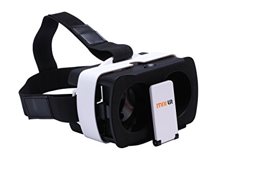 """minivr 3D VR Headset Mini VR Box New Design Virtual Reality Experience for Games and Video Fit for 4.7""""-6.2"""" iOS Android phones"""