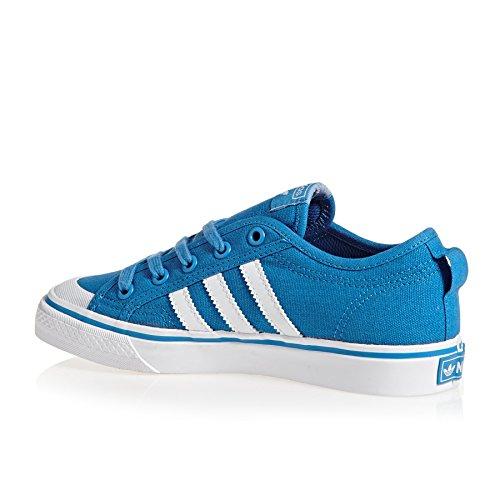 adidas Unisex Kids' Nizza J Basketball Shoes Bright Blue hyhm447