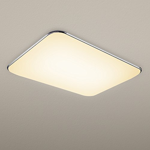 NATSEN 45W LED Ceiling Lights, Modern Ceiling Light Fixture, Flush Mount Ceiling  Light,High Transmittance Lampshade,Livi