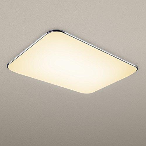 (NATSEN 45W LED Ceiling lights, Modern ceiling light fixture, Flush mount ceiling light,High transmittance lampshade,Livi)