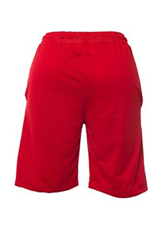 PYREX - Shorts da uomo over 28304 m rosso