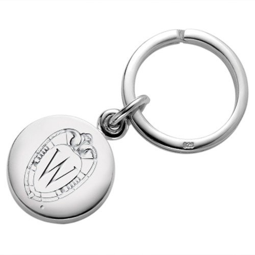 Wisconsin Sterling Silver Insignia Key Ring by M. LaHart
