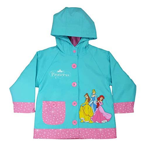 Western Chief Girls Disney Princess Party Rain Coat Teal -