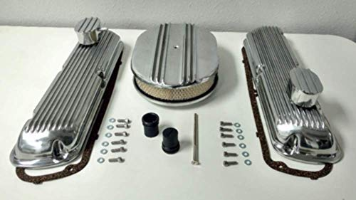 - Sb Ford Finned Aluminum Valve Cover W/Air Cleaner Kit Sbf V8 260 289 302 351W