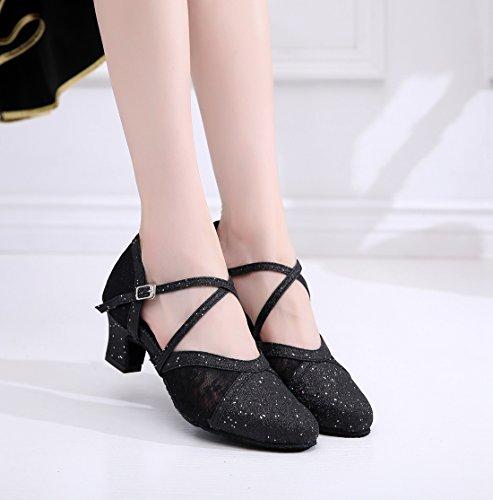 Femme Black Danse 5 Heel de Minitoo QJ7162 Cm Salon MinitooUK Ywq6qXRv